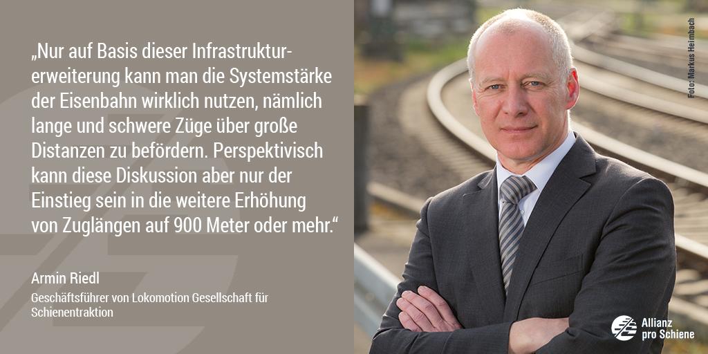 Bahn frei für 740-Meter-Netz: Armin Riedl von Lokomotion freut sich.