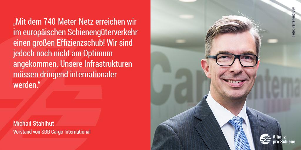 Bahn frei für 740-Meter-Netz: Michail Stahlhut von SBB Cargo freut sich.