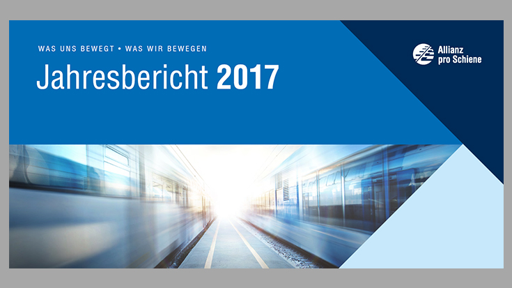 Der Jahresbericht der Allianz pro Schiene 2017.