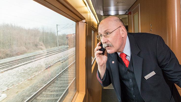 Hartmut Dressler erhielt 2018 die GOLD-Auszeichnung für den Wettbewerb Eisenbahner mit Herz der Allianz pro Schiene