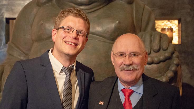 Einsender Philipp Reske und Gold-Sieger Hartmut Dreßler