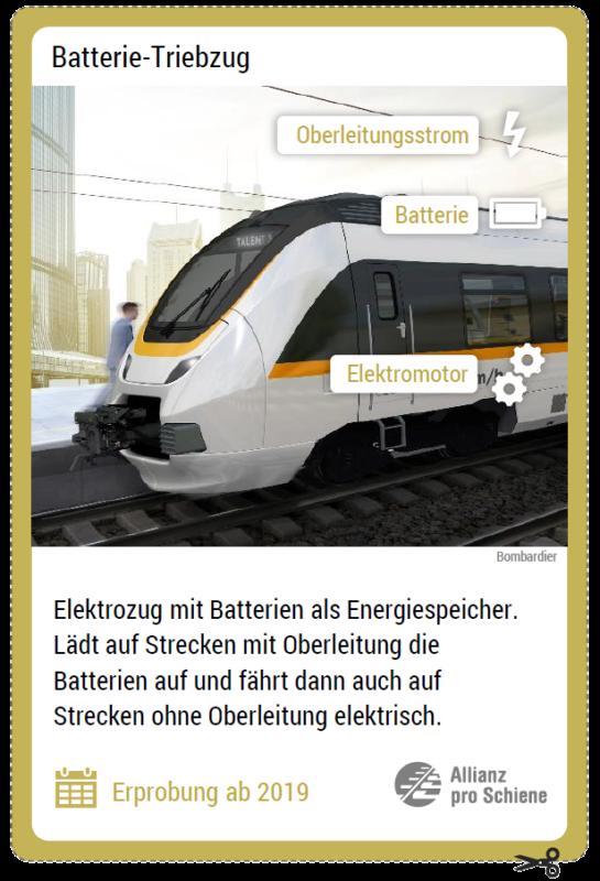 Innovative Antriebe auf der Schiene: Batterie-Triebzug