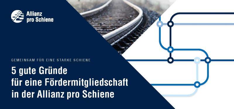Fördererbroschüre Allianz pro Schiene