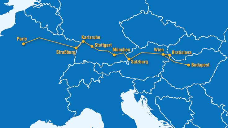 Mit dem Zug von Paris nach Budapest: Die »Magistrale« verbindet Europa