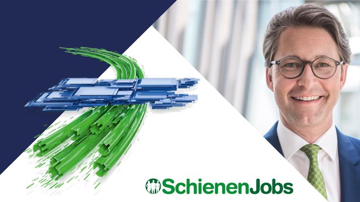 Verkehrsminister Andreas Scheuer besucht SchienenJobs-Stand auf der InnoTrans 2018 - Allianz pro Schiene
