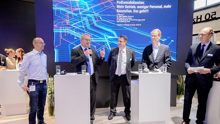 Allianz pro Schiene-Geschäftsführer Dirk Flege bei der Podiumsdiskussion
