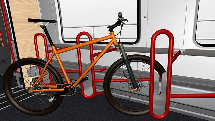 """Innovationspreis Mobilitätsgestalterin: Die Industriedesignerin Nicole Michel (Bombardier) erhält den Titel Mobilitätsgestalterin in der Kategorie """"Personenverkehr"""" für eine Erfindung, die den Fahrradtransport mit der Bahn revolutionieren könnte."""
