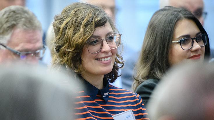 """""""Goldene Umweltschiene"""": Staatssekretär überreicht Preis an Allianz pro Schiene: Ulrike Hunscha"""