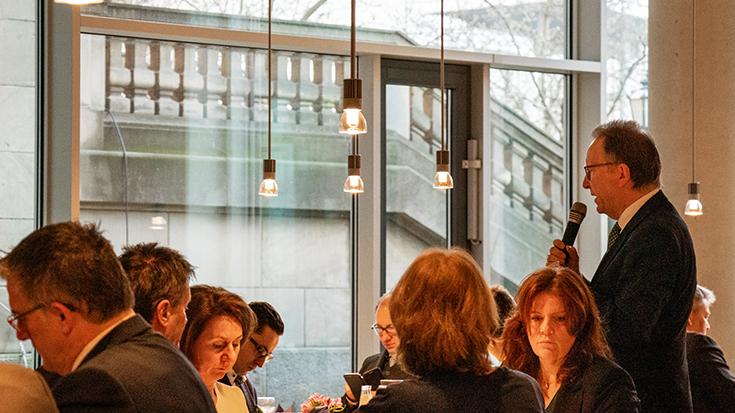 Lärmminderung im Schienenverkehr: Parlamentarisches Frühstück der Allianz pro Schiene/ Erwin Rüddel