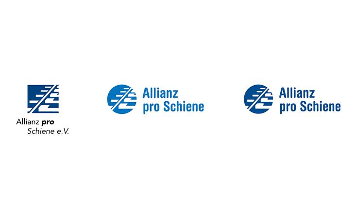 Die Logos der Allianz pro Schiene im Überblick (2000 bis 2019)