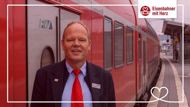 Deutschland beliebtester Eisenbahner: Zugbebleiter Peter Hohmann hat das Online-Voting beim Eisenbahner mit Herz gewonnen.