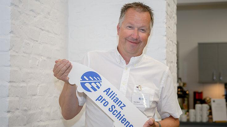 Willkommen in der Allianz pro Schiene! Roger Mahler, Geschäftsführer von METRANS Rail Deutschland.
