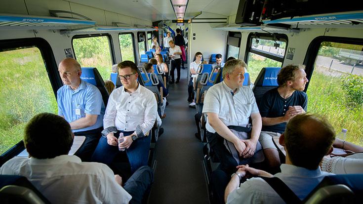 Von den Fahrgästen wertgeschätzt: Die Klimaanlage. Bei sommerlichen 38 Grad Außentemperatur.