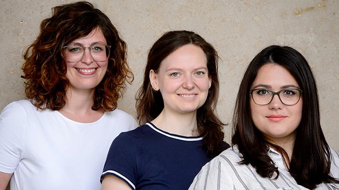 Ulrike Hunscha, Nicol Mierz, Isabel Vollmer (Drittmittelreferat Allianz pro Schiene)