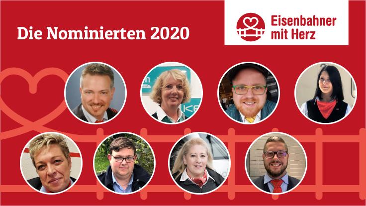 Eisenbahner mit Herz: Die Nominierten 2020