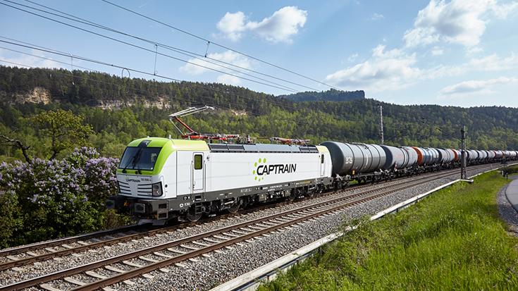Ein Güterzug von Captrain