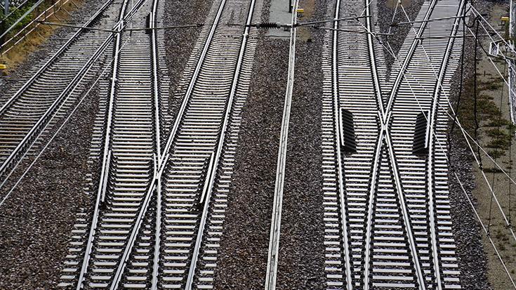 Elektrifizierte Schienen