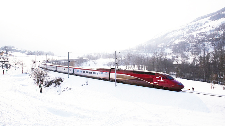 Thalys in Winterlandschaft