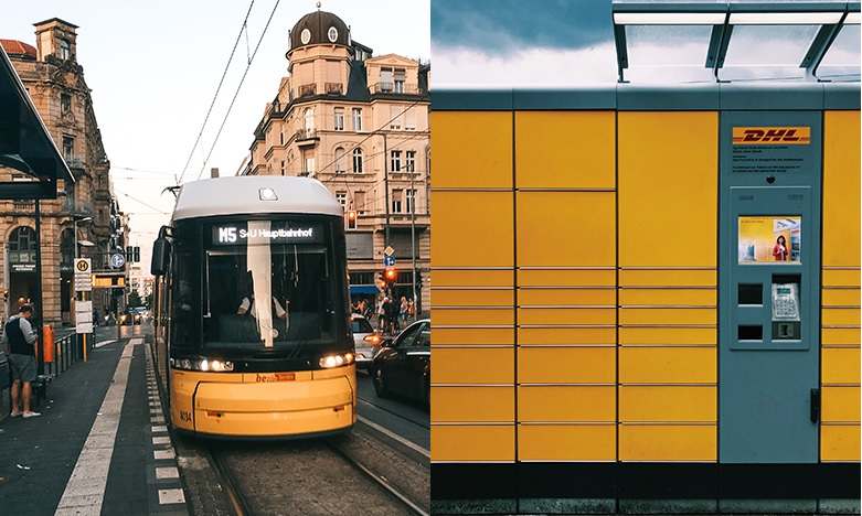 Paketzustellung mit Straßenbahn entlastet Innenstädte