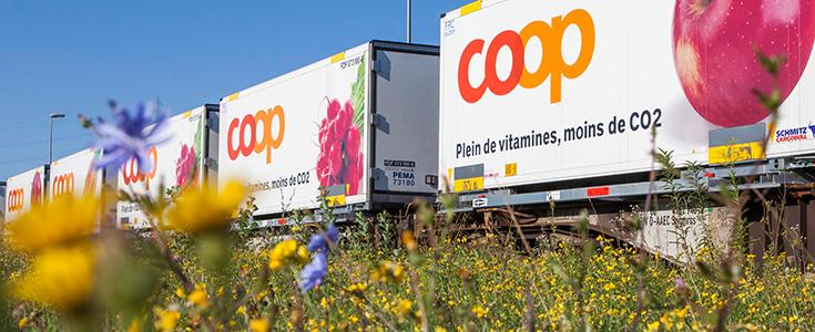 Mehr Vitamine, weniger CO2 - Coop setzt auf die Schiene