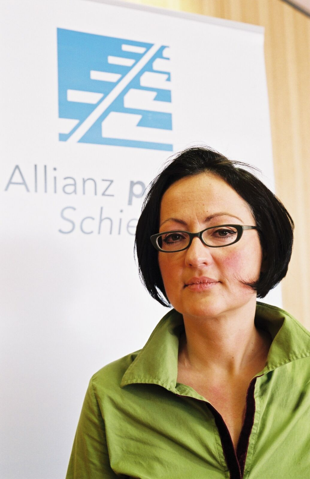 Frauke Lendowsky bei der Allianz pro Schiene