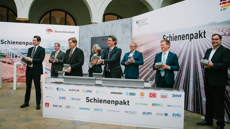Der Schienenpakt wurde Ende Juni 2020 in Berlin unterzeichnet.
