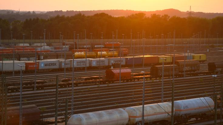 Der Gütervekehr in Deutschland wird leiser.