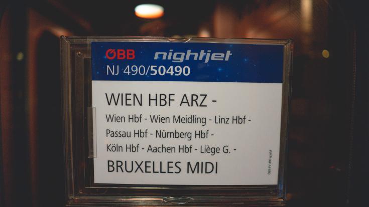 Mit dem Nachtzug von Wien nach Brüssel.