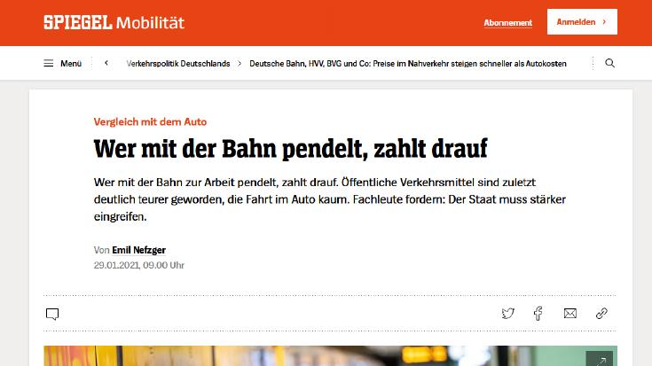 Wer mit der Bahn pendet, zahlt drauf - Spiegel Online