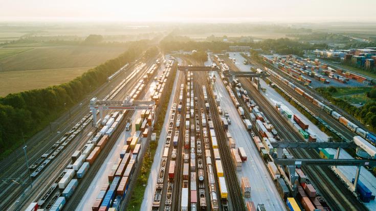 Ein Umschlagterminal für den Kombinierten Verkehr