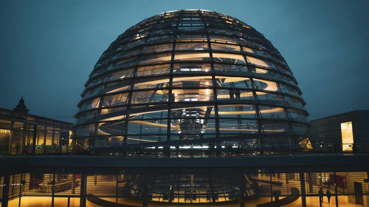 Die Kuppel des Bundestags.